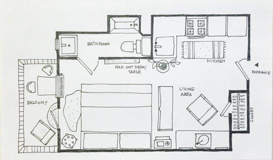 Making the most out of a small space 5 studio apartment for Apartments layout