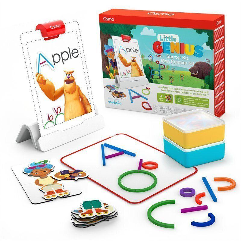 "Inspire a budding technology whiz with the Osmo Little Genius Starter Kit.&nbsp;<strong>Ages:</strong> 3+&nbsp;&nbsp;<strong>Get it at:</strong> <a href=""https://www.chapters.indigo.ca/en-ca/electronics/osmo-little-genius-starter-kit/850001161121-item.html"" target=""_blank"" rel=""noopener noreferrer"">Indigo</a>, $119.99"
