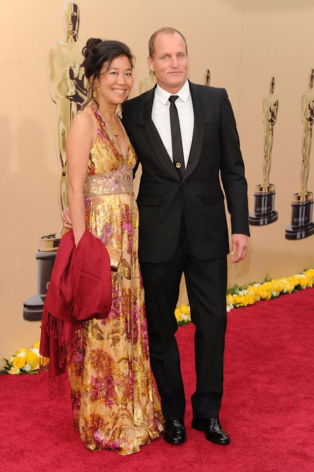 Woody Harrelson and wife Laura Louie arrive at the 82nd Annual Academy Awards held at Kodak Theatre on March 7, 2010 in Hollywood, California.