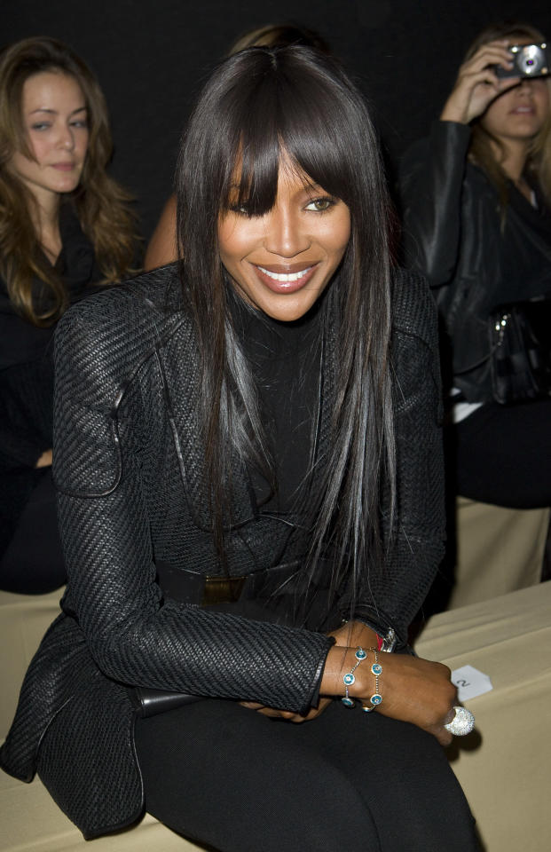 Model Naomi Campbell arrives to watch the Alexander McQueen show as part of the Fall-Winter, ready-to-wear 2012 fashion collection, during Paris Fashion week, Tuesday, March 8, 2011.