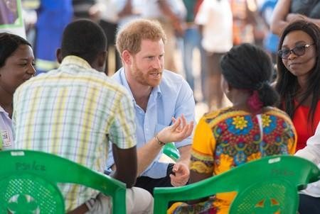 Prince Harry visits Mauwa Health Centre in Blantyre