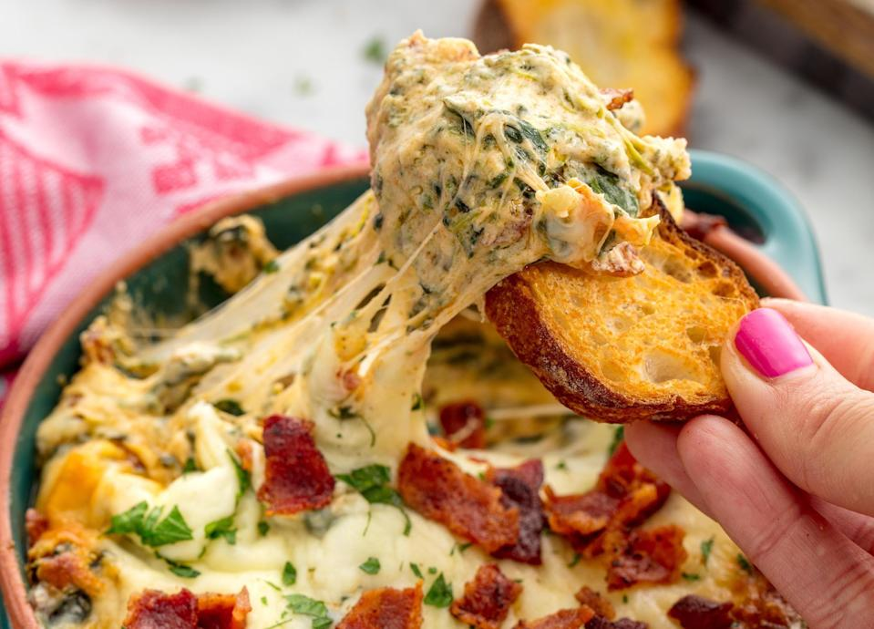 """<p>These easy-to-make dip recipes will ensure you have enough dip-spiration to last you from <a href=""""https://www.delish.com/holiday-recipes/thanksgiving/g8/thanksgiving-appetizers/"""" rel=""""nofollow noopener"""" target=""""_blank"""" data-ylk=""""slk:Thanksgiving"""" class=""""link rapid-noclick-resp"""">Thanksgiving</a> to <a href=""""https://www.delish.com/holiday-recipes/christmas/g1713/holiday-party-appetizers/"""" rel=""""nofollow noopener"""" target=""""_blank"""" data-ylk=""""slk:Christmas"""" class=""""link rapid-noclick-resp"""">Christmas</a> and beyond. Whether you're looking for something cheesy, sweet, or meaty, we've got plenty of options for you.</p>"""