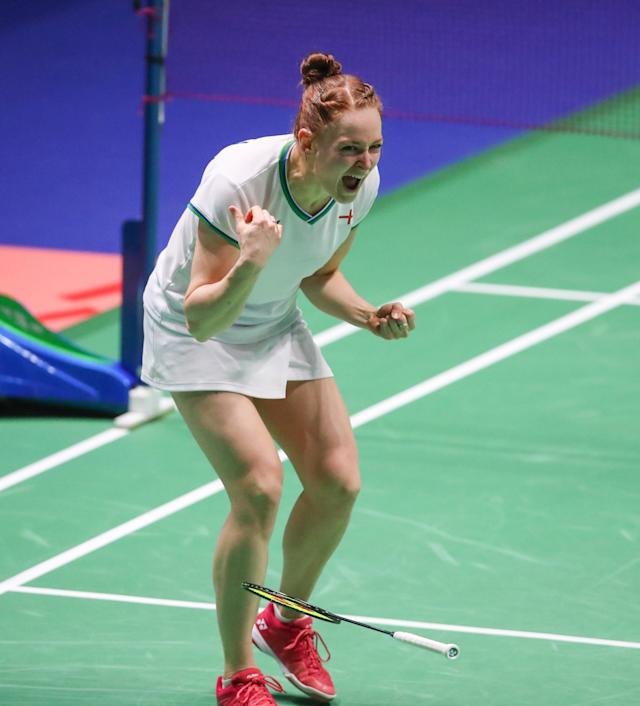 Lauren Smith sent the home crowd into raptures after her thrilling win alongside Marcus Ellis on ThursdayYah