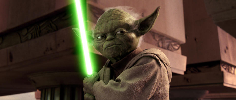 Yoda (voiced by Frank Oz) in 2005's <em>Star Wars Episode III: Revenge of the Sith</em> (Photo: Lucasfilm c/o Everett Collection)