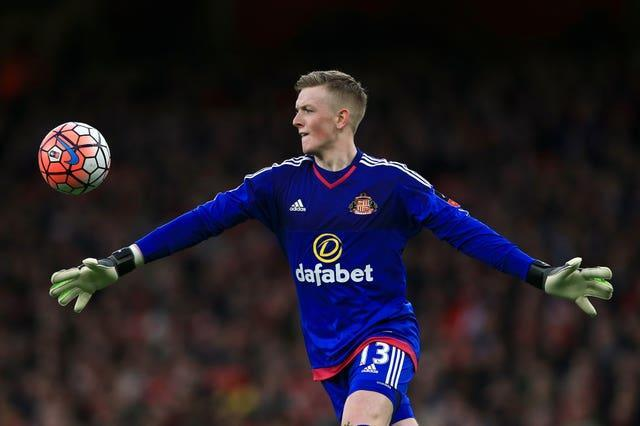 Jordan Pickford made his Sunderland debut in an FA Cup third round tie at Arsenal
