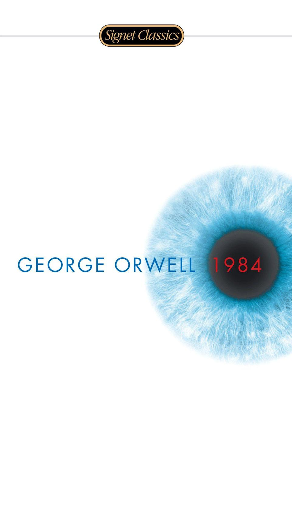"""<p><strong>George Orwell</strong></p><p>amazon.com</p><p><strong>$7.48</strong></p><p><a href=""""https://www.amazon.com/dp/0451524934?tag=syn-yahoo-20&ascsubtag=%5Bartid%7C10055.g.22749180%5Bsrc%7Cyahoo-us"""" rel=""""nofollow noopener"""" target=""""_blank"""" data-ylk=""""slk:Shop Now"""" class=""""link rapid-noclick-resp"""">Shop Now</a></p><p>George Orwell's tale of a dystopian world where the government is always watching isn't just eerily prescient. It also demonstrates how crucial free-thinking is to protect, especially to readers whose minds are most malleable. </p>"""