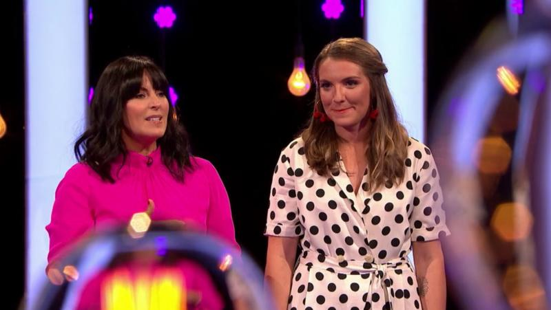 Millie on Naked Attraction with presenter Anna Richardson (Photo: Channel 4)