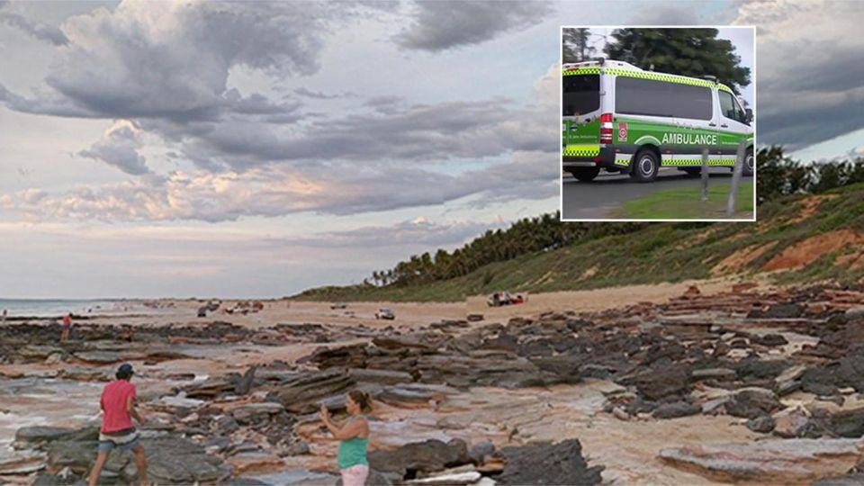 A woman has been run over by a 4WD while camping on a beach in WA.