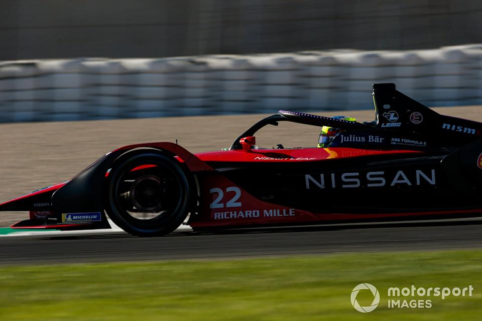 """Oliver Rowland, Nissan e.Dams, Nissan IMO2<span class=""""copyright"""">Andrew Ferraro / Motorsport Images</span>"""