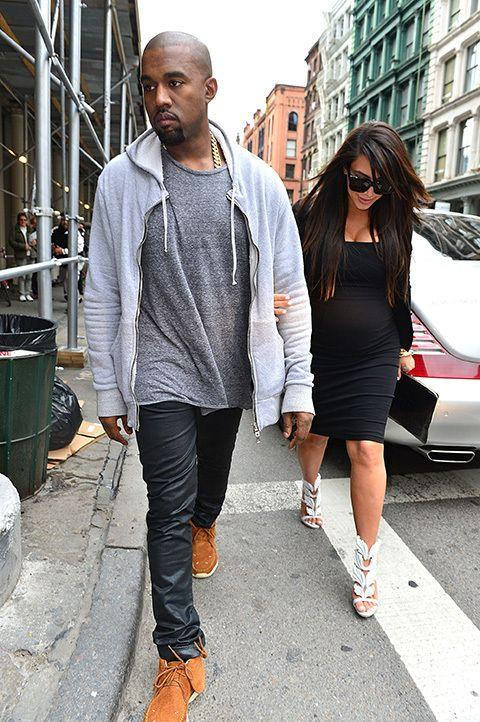Kim Kardashian and boyfriend Kanye West earlier in the year. Credit: Getty Images