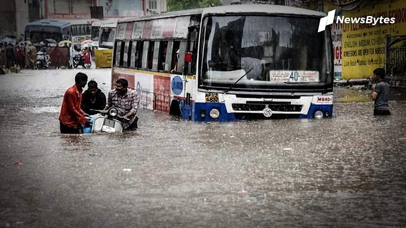 Heavy rains pound Hyderabad, streets flooded, residents pray for relief