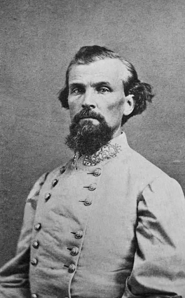 <p>Confederate Major General, Nathan Bedford Forrest, (1821-1877). He was the founder of the Ku Klux Klan, and leader from 1866-1869. Undated photograph. (Getty Images) </p>