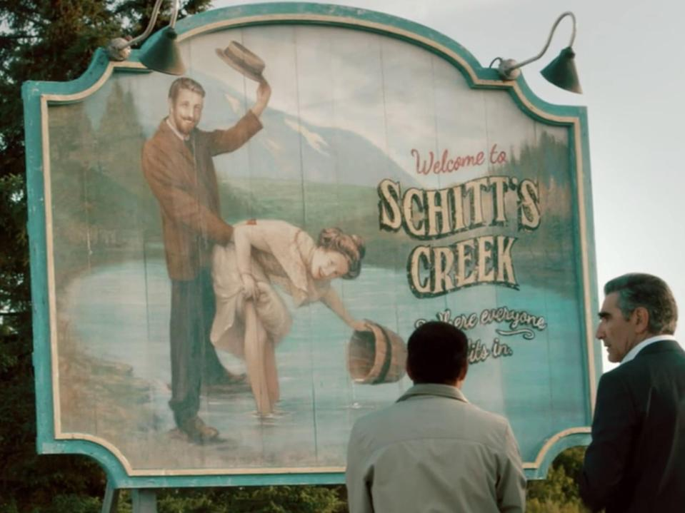 schitt's creek town sign