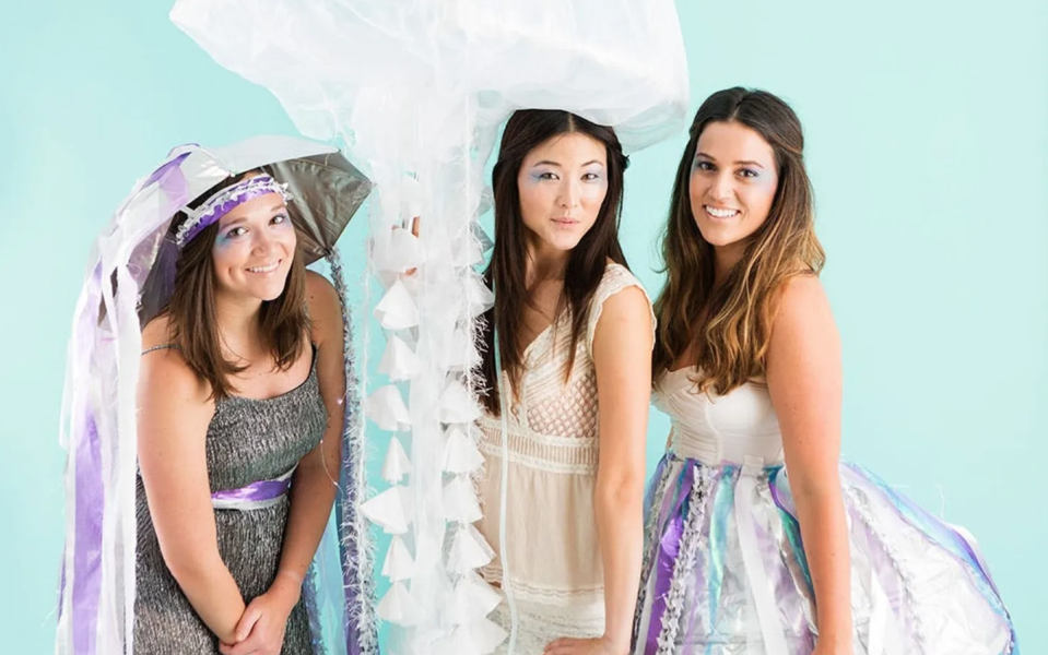 """<p>Looking for an out-of-the-box idea that's still instantly recognizable? Pick an obscure animal to dress up as—like a jellyfish.</p><p><strong>Get the tutorial at <a href=""""https://www.brit.co/how-to-make-a-jellyfish-costume/"""" rel=""""nofollow noopener"""" target=""""_blank"""" data-ylk=""""slk:Brit + Co"""" class=""""link rapid-noclick-resp"""">Brit + Co</a>.</strong></p><p><strong><a class=""""link rapid-noclick-resp"""" href=""""https://go.redirectingat.com?id=74968X1596630&url=https%3A%2F%2Fwww.walmart.com%2Fsearch%2F%3Fquery%3Dface%2Bglitter&sref=https%3A%2F%2Fwww.thepioneerwoman.com%2Fhome-lifestyle%2Fcrafts-diy%2Fg37066817%2Fhalloween-costumes-for-3-people%2F"""" rel=""""nofollow noopener"""" target=""""_blank"""" data-ylk=""""slk:SHOP FACE GLITTER"""">SHOP FACE GLITTER</a><br></strong></p>"""