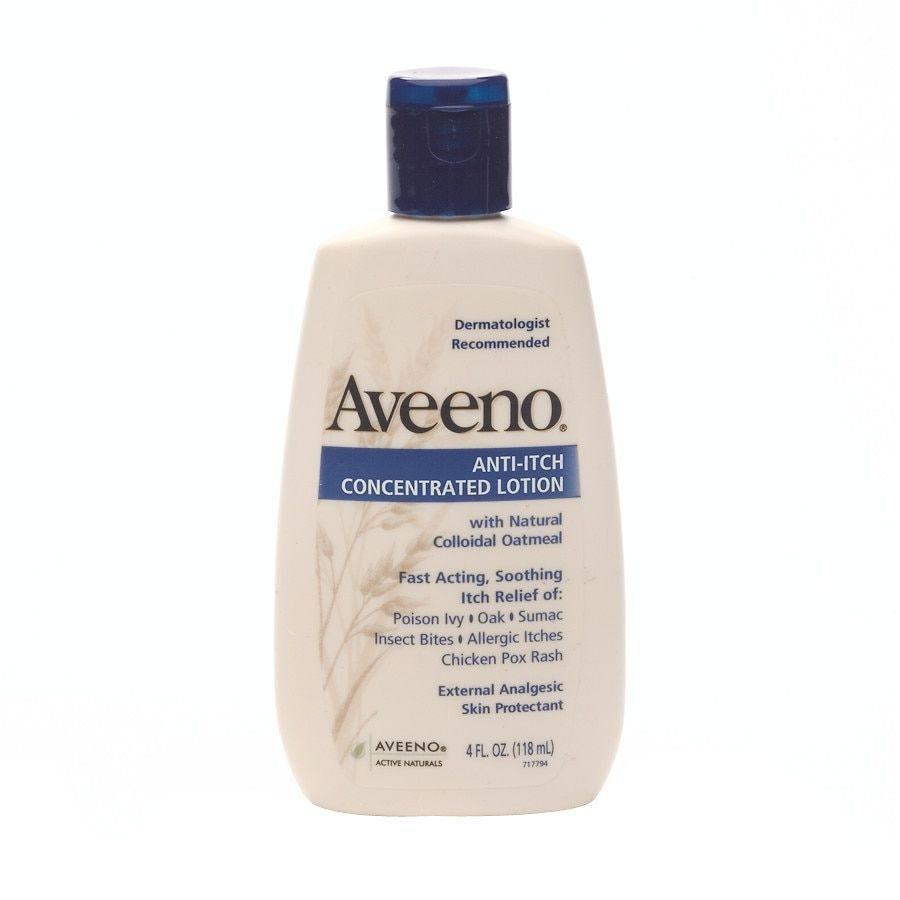 """<p><strong>Aveeno</strong></p><p>walgreens.com</p><p><strong>$5.39</strong></p><p><a href=""""https://go.redirectingat.com?id=74968X1596630&url=https%3A%2F%2Fwww.walgreens.com%2Fstore%2Fc%2Faveeno-anti-itch-concentrated-lotion%2FID%3Dprod4349-product&sref=https%3A%2F%2Fwww.womenshealthmag.com%2Fhealth%2Fg36743167%2Fbest-anti-itch-creams%2F"""" rel=""""nofollow noopener"""" target=""""_blank"""" data-ylk=""""slk:Shop Now"""" class=""""link rapid-noclick-resp"""">Shop Now</a></p><p>Containing triple oat complex and natural colloidal oatmeal, this lotion can bring relief from itching and rashes caused by poison ivy, insect bites, and other causes, in addition to providing relief from general skin itching and dryness.</p>"""