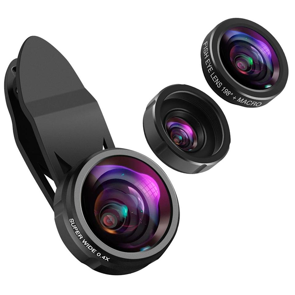 """<p>Turn your phone into a professional camera with these <a href=""""https://www.popsugar.com/buy/Phone-Camera-Lenses-395493?p_name=Phone%20Camera%20Lenses&retailer=amazon.com&pid=395493&price=16&evar1=geek%3Aus&evar9=36026397&evar98=https%3A%2F%2Fwww.popsugar.com%2Ftech%2Fphoto-gallery%2F36026397%2Fimage%2F45606046%2FPhone-Camera-Lenses&list1=gifts%2Cgadgets%2Choliday%2Cgift%20guide%2Cdigital%20life%2Ctech%20gifts%2Cgifts%20for%20men&prop13=mobile&pdata=1"""" class=""""link rapid-noclick-resp"""" rel=""""nofollow noopener"""" target=""""_blank"""" data-ylk=""""slk:Phone Camera Lenses"""">Phone Camera Lenses</a> ($16).</p>"""
