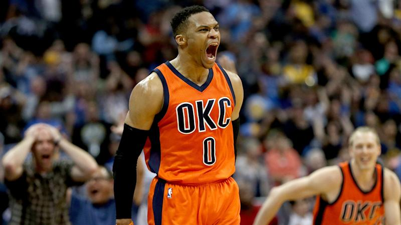 NBA playoffs 2017: Russell Westbrook clowns Rockets with MVP handle after block