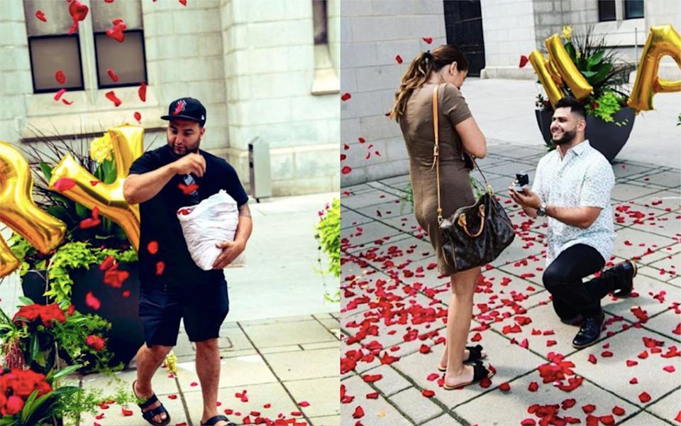 Wael Mansour has gone viral after his starring role in his friend's proposal [Photo: Instagram]