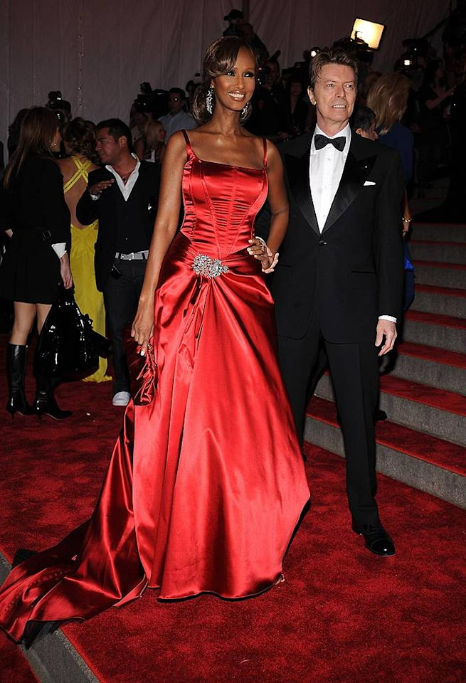 "At 52 and 61-years-old, Iman and her hubby David Bowie proved that age is nothing but a number. Iman even put women half her age to shame in a gorgeous garnet gown. Dimitrios Kambouris/<a href=""http://www.wireimage.com"" target=""new"">WireImage.com</a> - May 5, 2008"
