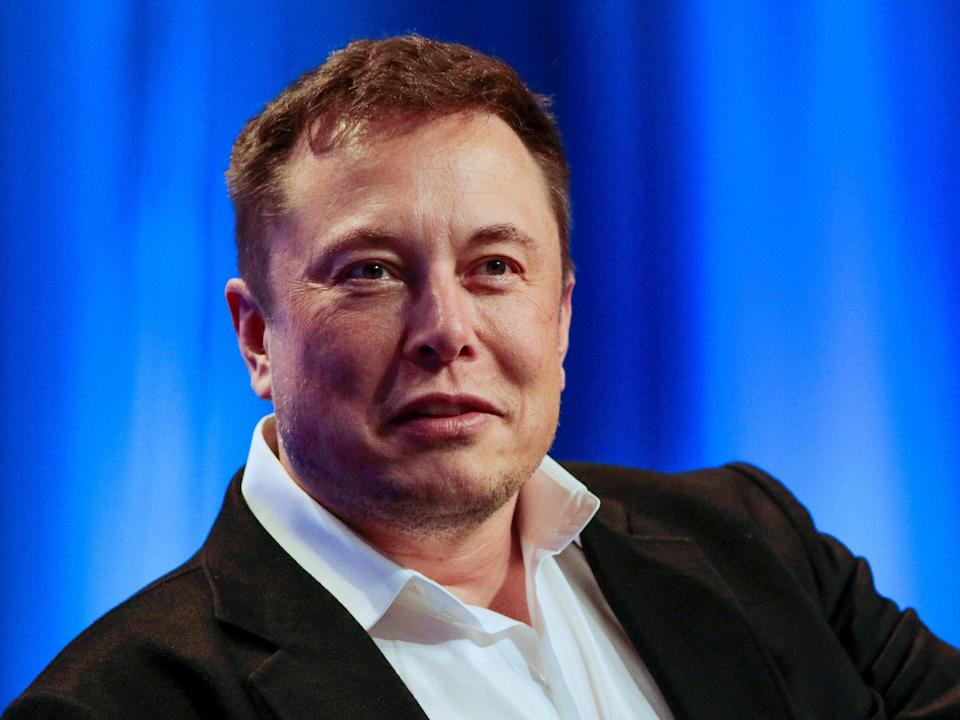 Musk participates in a 'fireside chat' at the National League of Cities Summit in Los Angeles last month (Reuters) (Reuters)