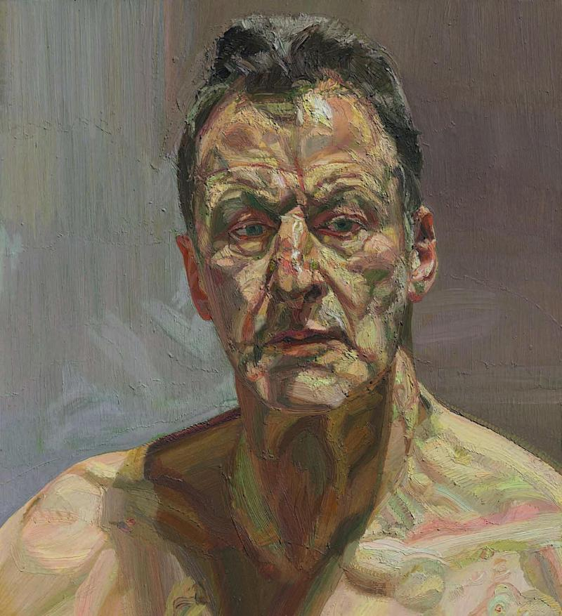 Lucian Freud, Reflection (Self-portrait), 1985. Oil on canvas, 56.2 x 51.2 cm. Private collection, on loan to the Irish Museum of Modern Art (The Lucian Freud Archive / Bridgeman Images)
