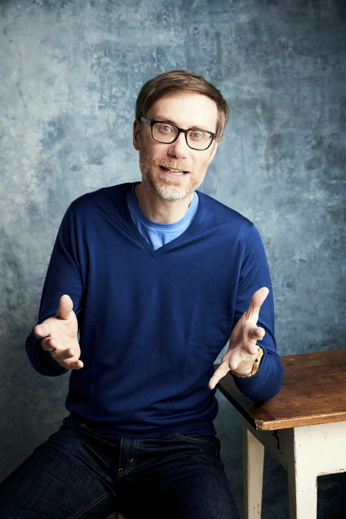 "FILE - Writer/director Stephen Merchant poses for a portrait to promote the film ""Fighting with My Family"" during the Sundance Film Festival on Jan. 27, 2019, in Park City, Utah. Merchant turns 46 on Nov. 24. (Photo by Taylor Jewell/Invision/AP, File)"