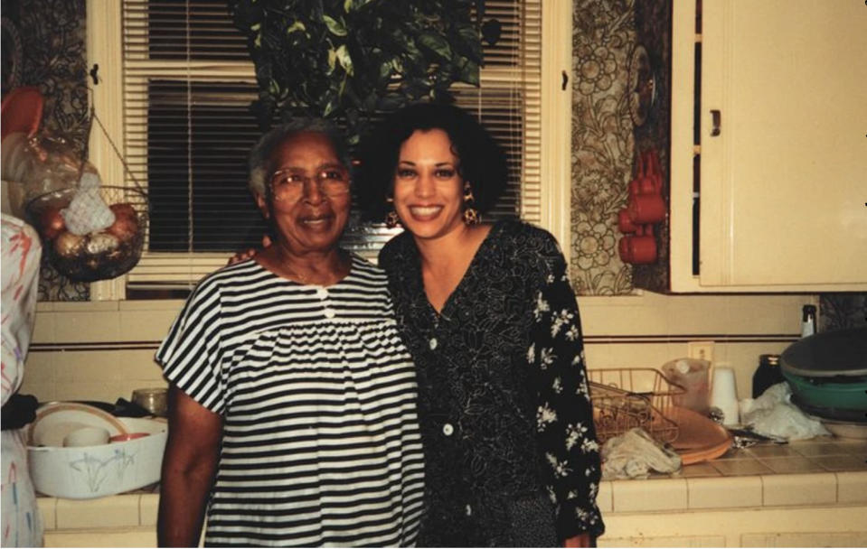 Regina Shelton and Kamala Harris. (Courtesy of Kamala Harris)