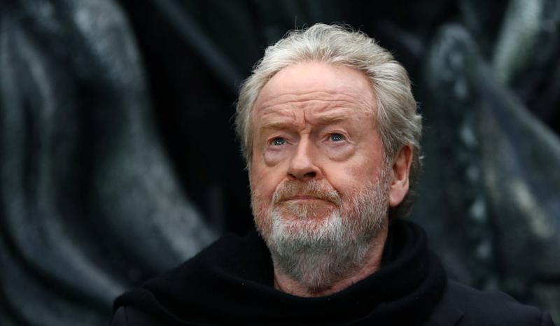 Director Ridley Scott poses for photographers at the World Premiere of 'Alien: Covenant' in London, Britain May 4, 2017. (REUTERS/Neil Hall)
