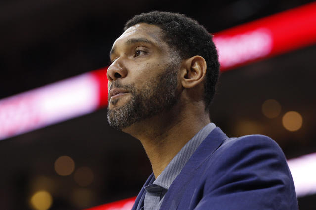 Tim Duncan has also personally pledged $1.25 million to Hurricane Irma relief efforts in the U.S. Virgin Islands. (AP)