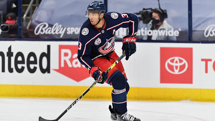 Seth Jones will unite with his brother, Caleb, in Chicago after being traded out of Columbus. (Photo by Jamie Sabau/NHLI via Getty Images)