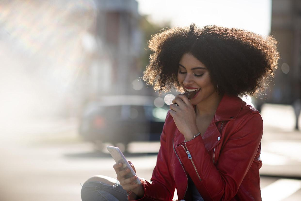 Eating chocolate can give you a happiness hit. (Getty Images)