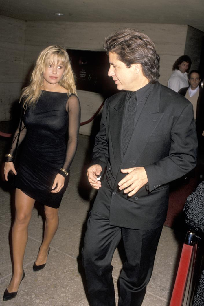 Pamela Anderson and Jon Peters in the late 1980s. (Jim Smeal/Ron Galella Collection via Getty Images)