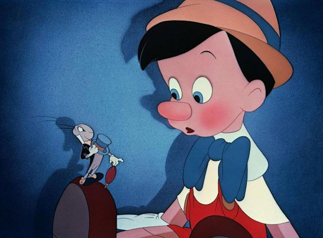 Jiminy Cricket and Pinocchio in the 1940 Walt Disney classic <em>Pinocchio</em>. (Photo: Walt Disney/courtesy Everett Collection)