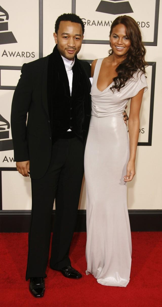 Chrissy Teigen and John Legend GRAMMYs 2008