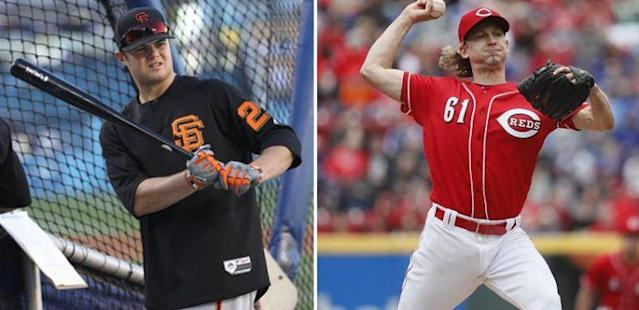 Christian Arroyo (left) and Bronson Arroyo have an interesting bond within their community and the game of baseball. (Getty Images)
