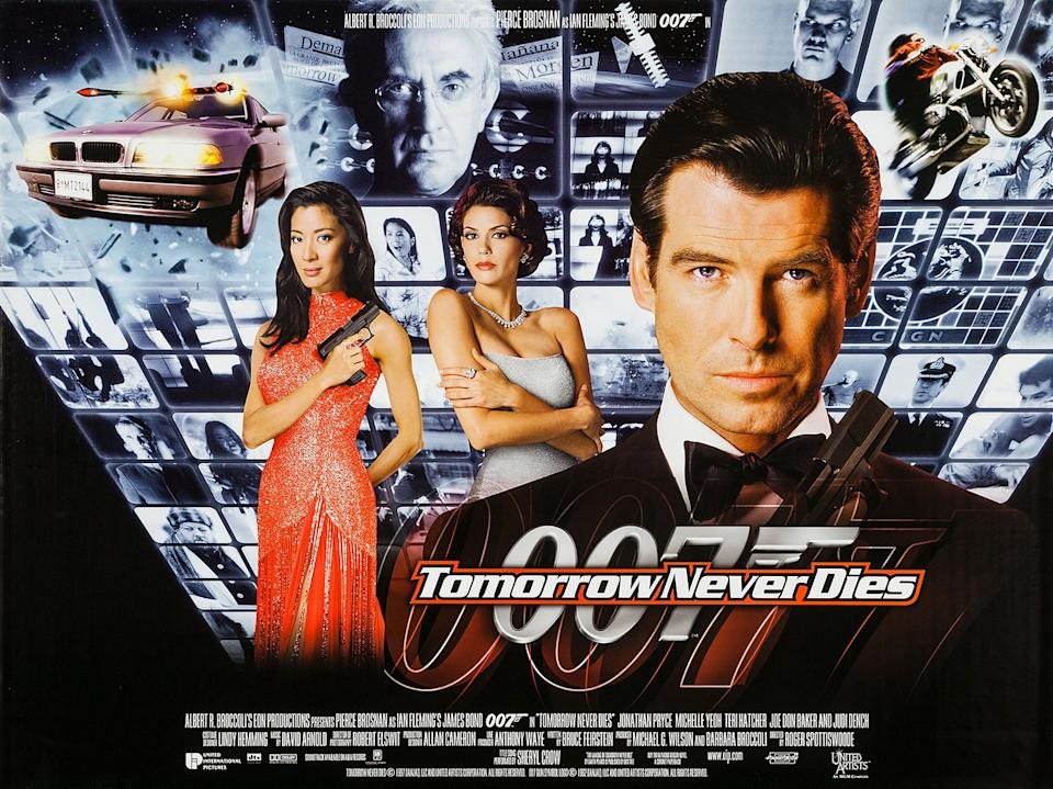 Brosnan's second Bond film saw 007 taking on Jonathan Pryce's devilish media mogul Elliot Carver on a in a spectacular globe-trotting romp. (Eon/MGM)
