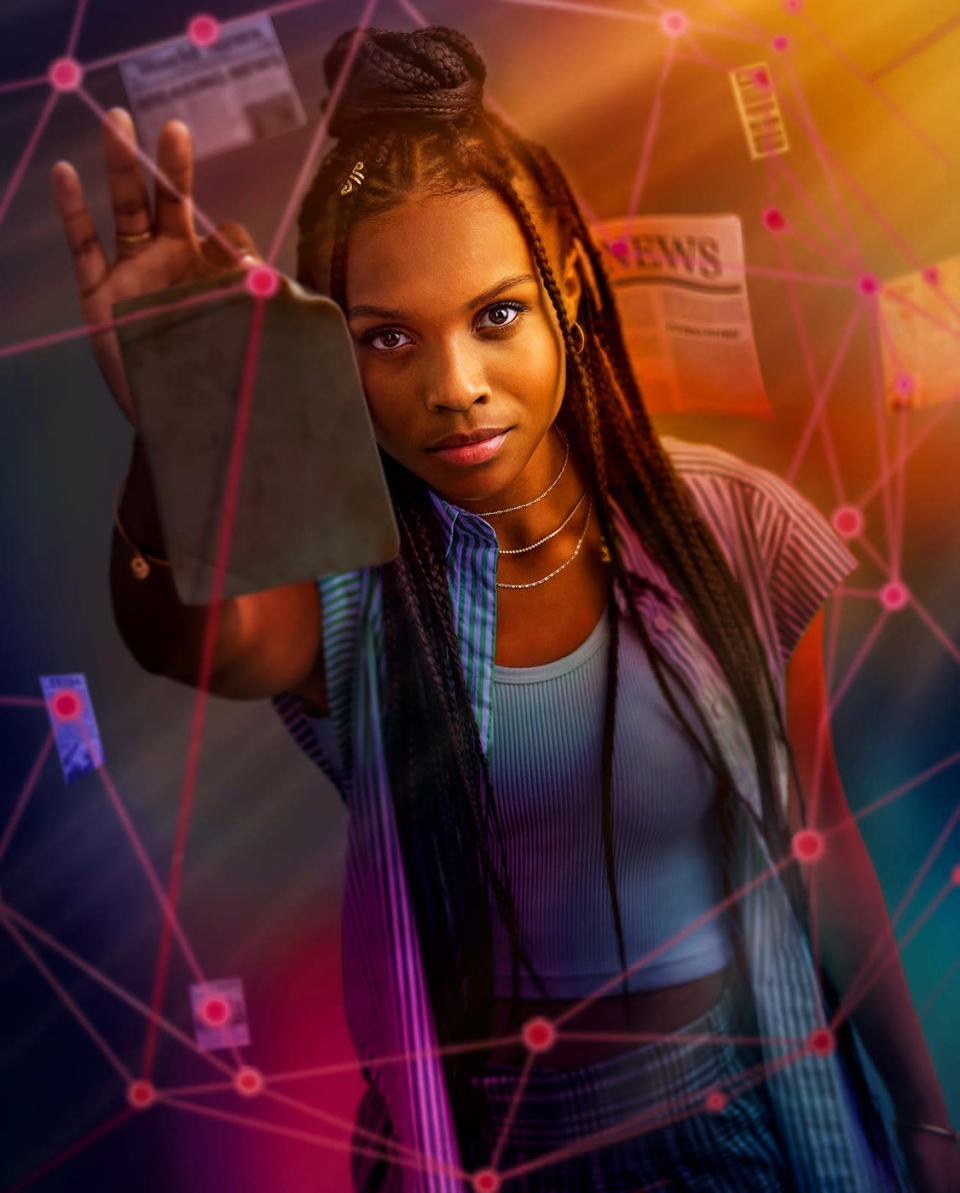 Naomi  -- Image Number: NAO_FIRST_LOOK.jpg -- Pictured: Kaci Walfall as Naomi -- Photo: The CW -- © 2021 The CW Network, LLC. All Rights Reserved.