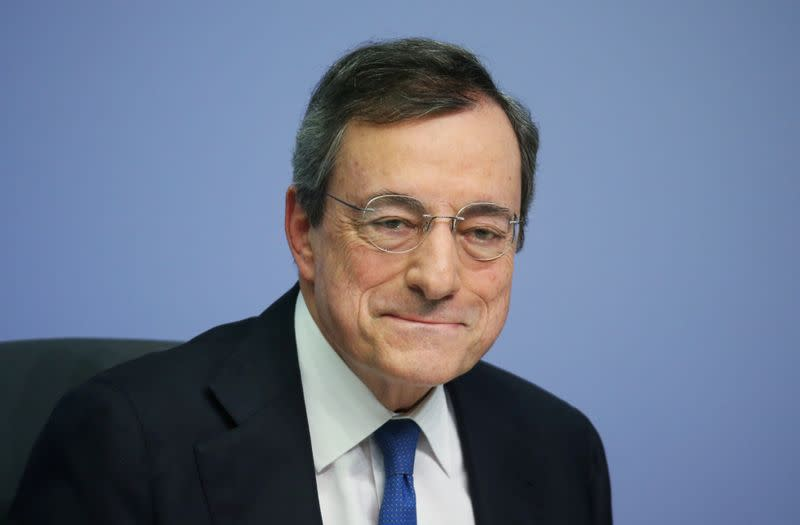 FILE PHOTO: Former European Central Bank chief Mario Draghi
