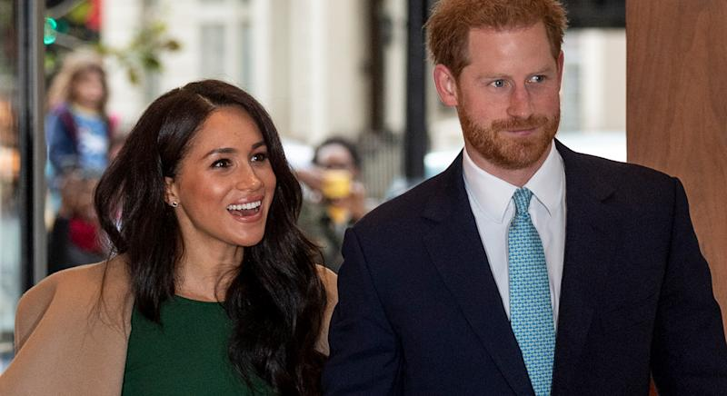 The Duke and Duchess of Sussex arrived at the WellChild Awards in London. [Photo: Getty]