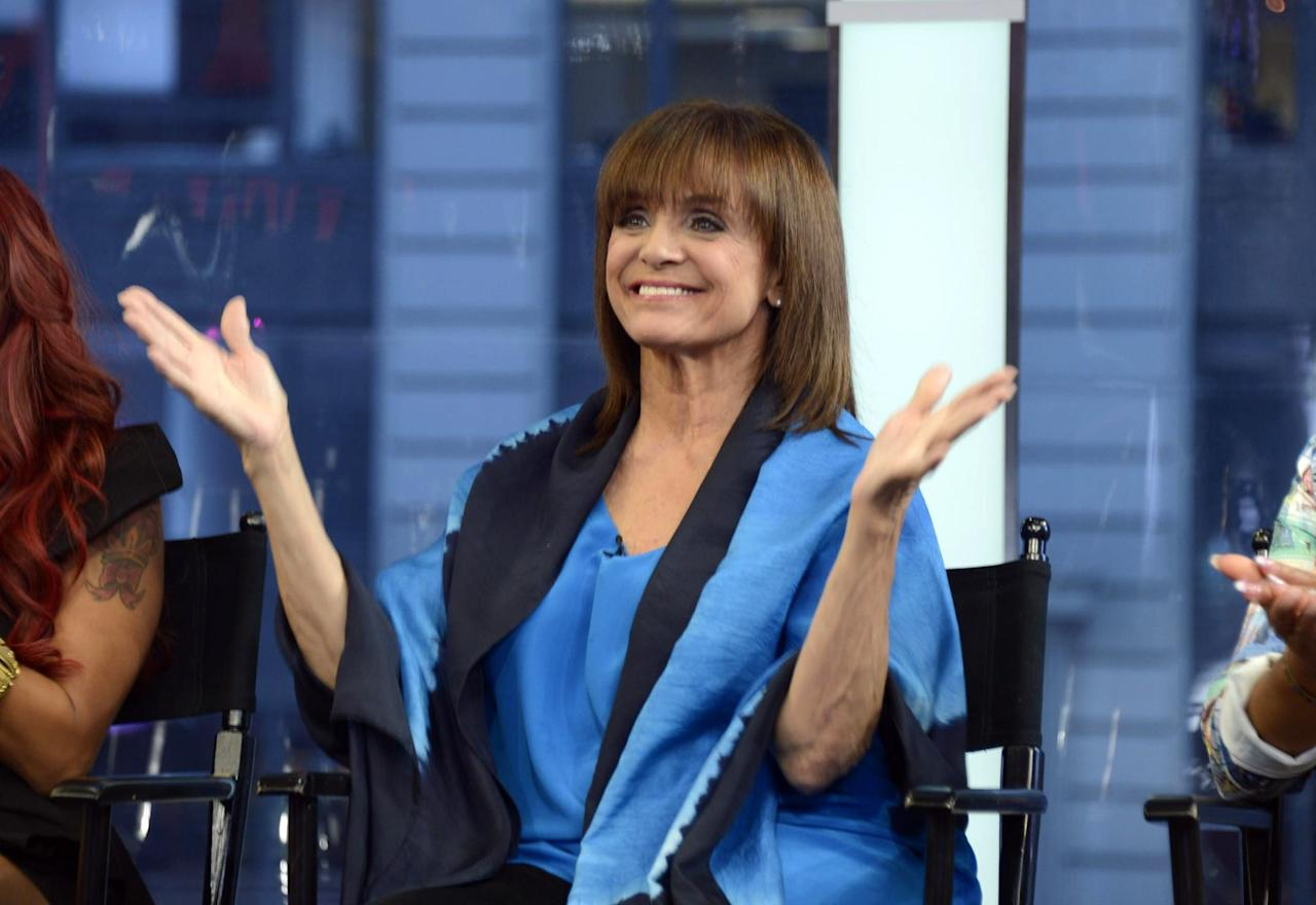 """<p> This image released by ABC shows actress Valerie Harper on """"Good Morning America,"""" Wednesday, Sept. 4, 2013 in New York after it was announced that she will be one of 12 celebrities competing on """"Dancing with the Stars."""" The celebrity dance competition series premieres on Sept. 16. (AP Photo/ABC, Ida Mae Astute)"""