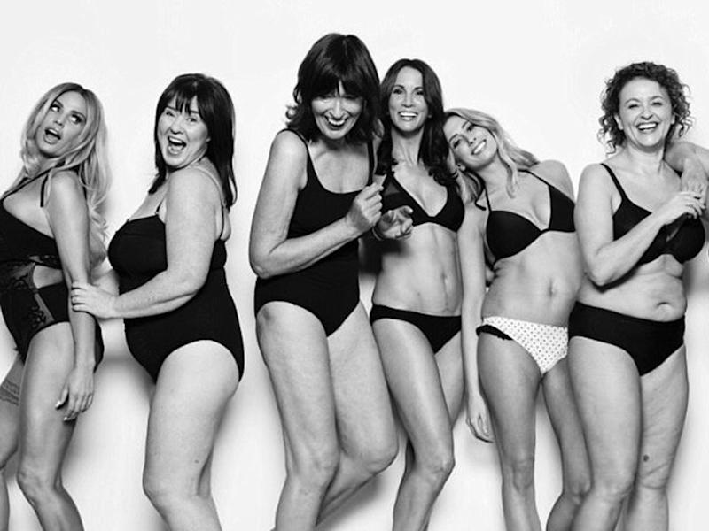 The stars of Loose Women posed for a photoshoot to promote body positivity: ITV