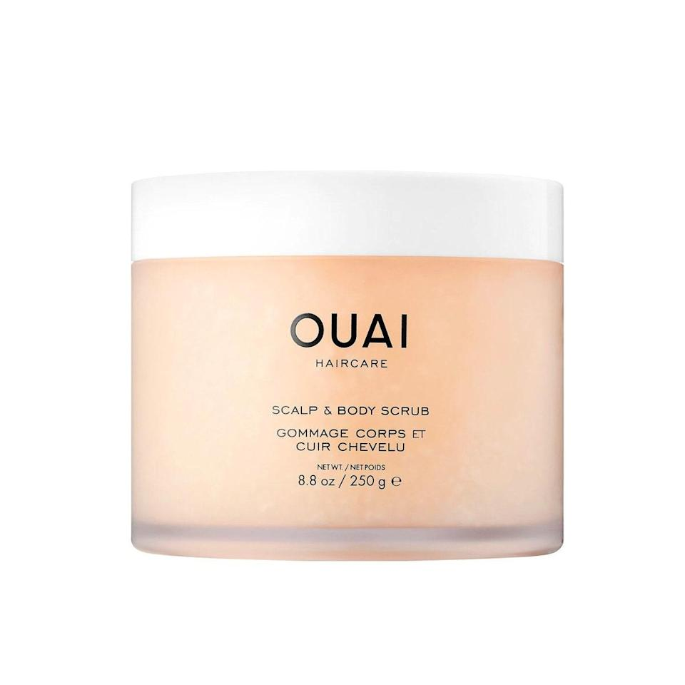 """The <a href=""""https://shop-links.co/1726639351861467434"""" rel=""""nofollow noopener"""" target=""""_blank"""" data-ylk=""""slk:Ouai Scalp & Body Scrub"""" class=""""link rapid-noclick-resp"""">Ouai Scalp & Body Scrub</a> has been one of my favorite products I've tried this year and will remain a staple in my routine. It has soothed my scalp, and I love that what's leftover on my hands can exfoliate the rest of my body, so this product never goes to waste. My scalp and skin feel amazing and squeaky clean every time. Also, like all of Ouai's products, the smell is amazing. —<em>Cassie Basford, assistant visuals editor</em> $38, OUAI. <a href=""""https://shop-links.co/1726639351861467434"""" rel=""""nofollow noopener"""" target=""""_blank"""" data-ylk=""""slk:Get it now!"""" class=""""link rapid-noclick-resp"""">Get it now!</a>"""