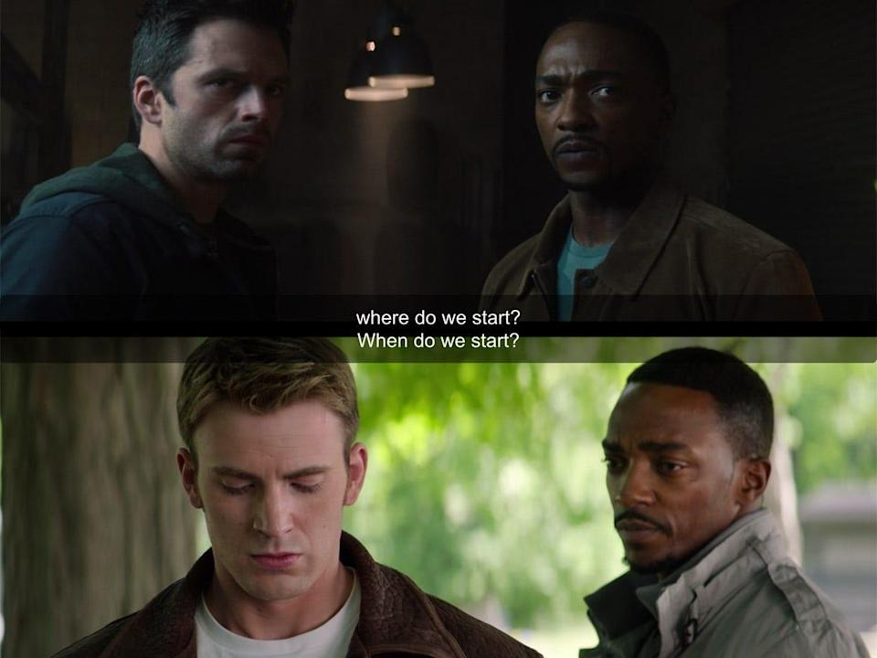 the falcon and the winter soldier 103 detail sam captain america the winter soldier callback