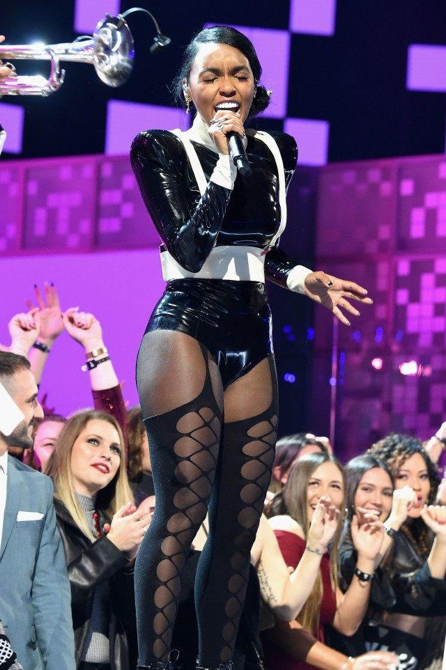 Janelle Monae performs during 2019 grammys