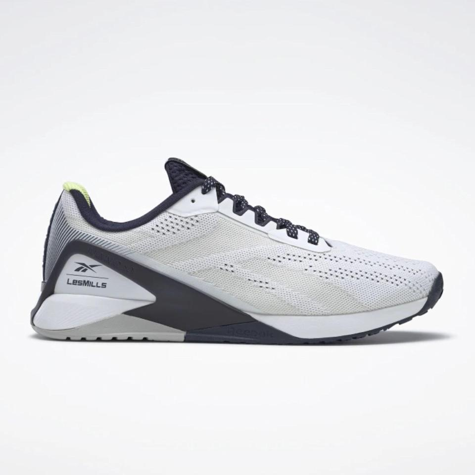 "Reebok's Nano sneakers have everything you want in a gym shoe or cross-trainer: a flat sole for multidirectional movement, mesh upper for a cooling feel, and a flexible, responsive outsole that's ideal for high-intensity interval training. $130, Reebok. <a href=""https://www.reebok.com/us/nano-x1-women-s--training-shoes-les-mills/FZ4299.html"" rel=""nofollow noopener"" target=""_blank"" data-ylk=""slk:Get it now!"" class=""link rapid-noclick-resp"">Get it now!</a>"