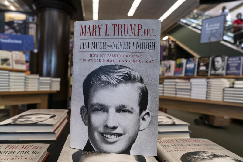 NEW YORK, UNITED STATES - 2020/07/14: Mary Trump's new book about U.S. President Donald Trump is on display on first day of sale at Barnes & Noble store on Broadway in Manhattan. Book is on sale in bookstores and online after a judge lifted all restrictions and also allowed Mary Trump to be free to discuss and promote the book. Mary Trump already scheduled TV appearances on all major networks. (Photo by Lev Radin/Pacific Press/LightRocket via Getty Images)
