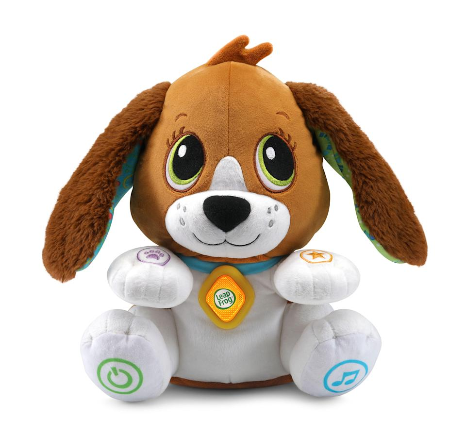 """<p><strong>LeapFrog</strong></p><p>walmart.com</p><p><strong>$19.88</strong></p><p><a href=""""https://go.redirectingat.com?id=74968X1596630&url=https%3A%2F%2Fwww.walmart.com%2Fip%2F293464058&sref=https%3A%2F%2Fwww.redbookmag.com%2Flife%2Ffriends-family%2Fg34828589%2Fholiday-gifts-for-kids-of-every-age%2F"""" rel=""""nofollow noopener"""" target=""""_blank"""" data-ylk=""""slk:Shop Now"""" class=""""link rapid-noclick-resp"""">Shop Now</a></p>"""