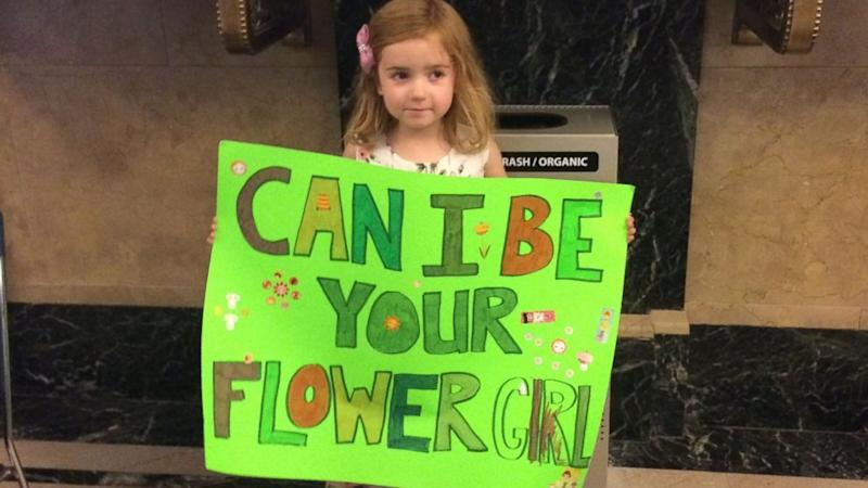 Four-Year-Old Volunteers to Be a Flower Girl at New York's City Hall