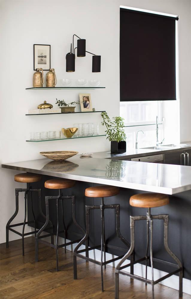 """<div class=""""caption-credit"""">Photo by: domino</div>RITA HAZAN'S KITCHEN via <a rel=""""nofollow noopener"""" href=""""http://bit.ly/1c308ro"""" target=""""_blank"""" data-ylk=""""slk:domino"""" class=""""link rapid-noclick-resp"""">domino</a> <p> <br> <a rel=""""nofollow noopener"""" href=""""http://bit.ly/1c308ro"""" target=""""_blank"""" data-ylk=""""slk:Nate Berkus"""" class=""""link rapid-noclick-resp"""">Nate Berkus</a> and <a rel=""""nofollow noopener"""" href=""""http://bit.ly/1c308ro"""" target=""""_blank"""" data-ylk=""""slk:Jeremiah Brent"""" class=""""link rapid-noclick-resp"""">Jeremiah Brent</a> use vintage steel-and-leather bar stools to add warmth to the sleek kitchen. <br> </p>"""