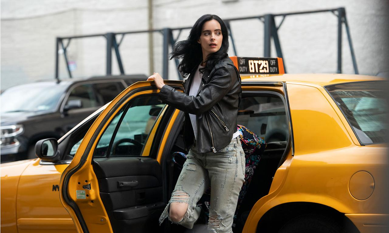 "<em>Luke Cage, Ironfist</em> and <em>Daredevil</em> were all announced to be getting the chop from Netflix last year, and 2019 saw more casualties for Marvel series as Netflix cast Jessica Jones aside, confirming its third run would be its last. Marvel TV boss Jeph Loeb <a href=""https://www.marvel.com/articles/tv-shows/a-letter-to-marvel-television-fans-from-jeph-loeb"">published a letter to fans</a>, confirming the news was the streaming giant's decision as he wrote: ""Our Network partner may have decided they no longer want to continue telling the tales of these great characters… but you know Marvel better than that."" (David Giesbrecht/Netflix)"